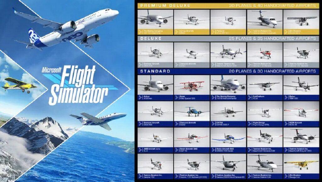 MSFS standard edition planes