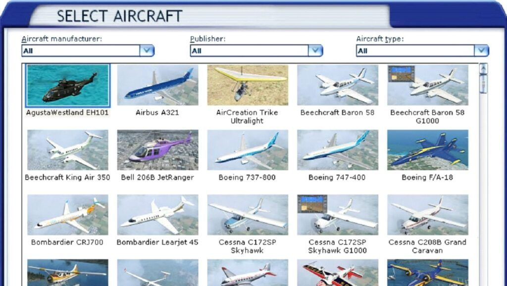 Select an aircraft