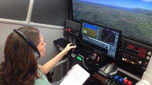 flight simulator cockpit