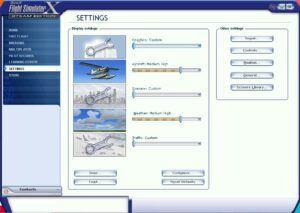 flight simulator x setting