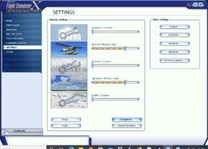 flight simulator x settings