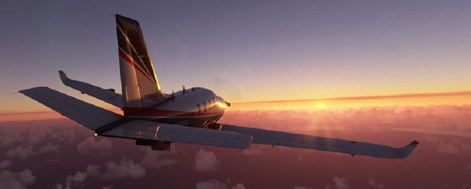 flying during dusk