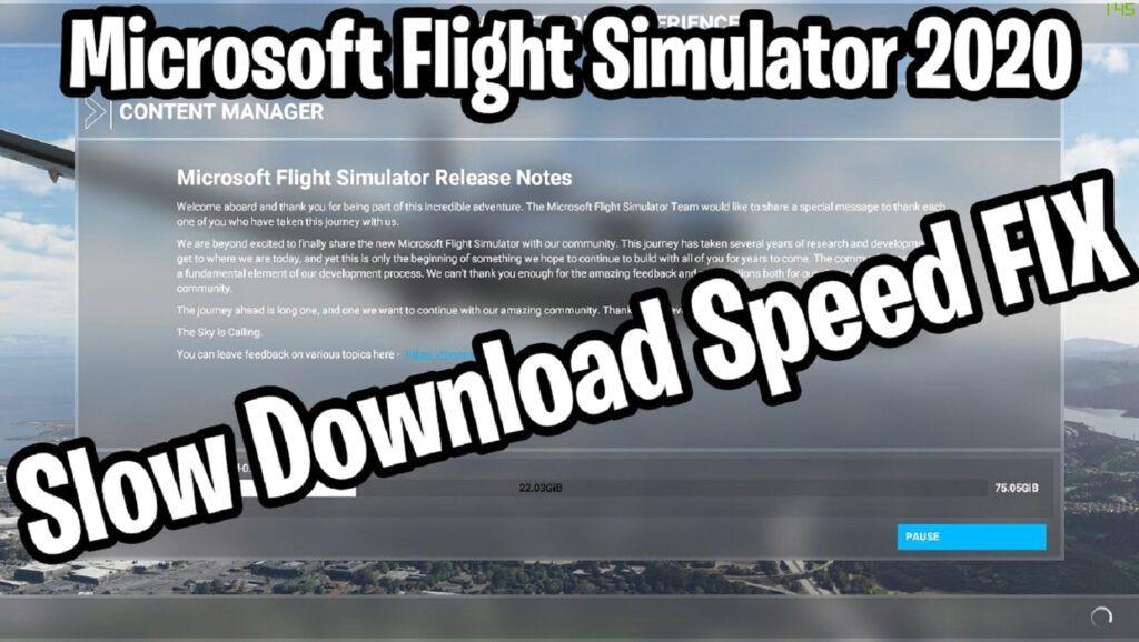 mfs 2020 download speed fix