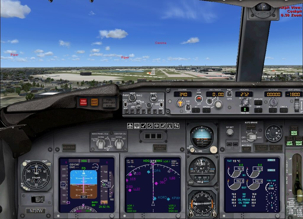 preparing to land on the runway