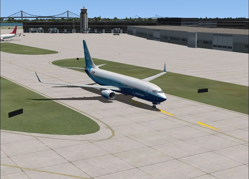 taxing on the runway