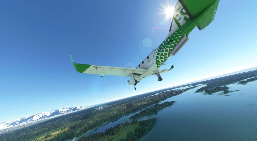 Aircraft over water