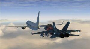fighter jet and aircraft