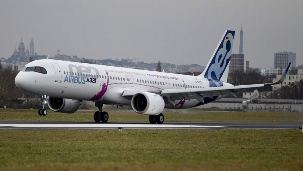 Airbus A321 jet