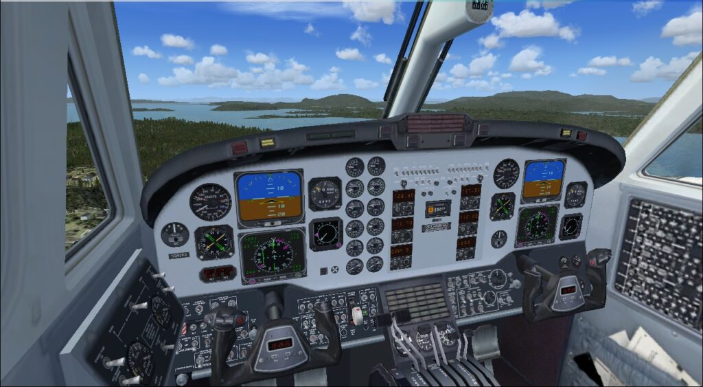 beechcraft kingair cockpit