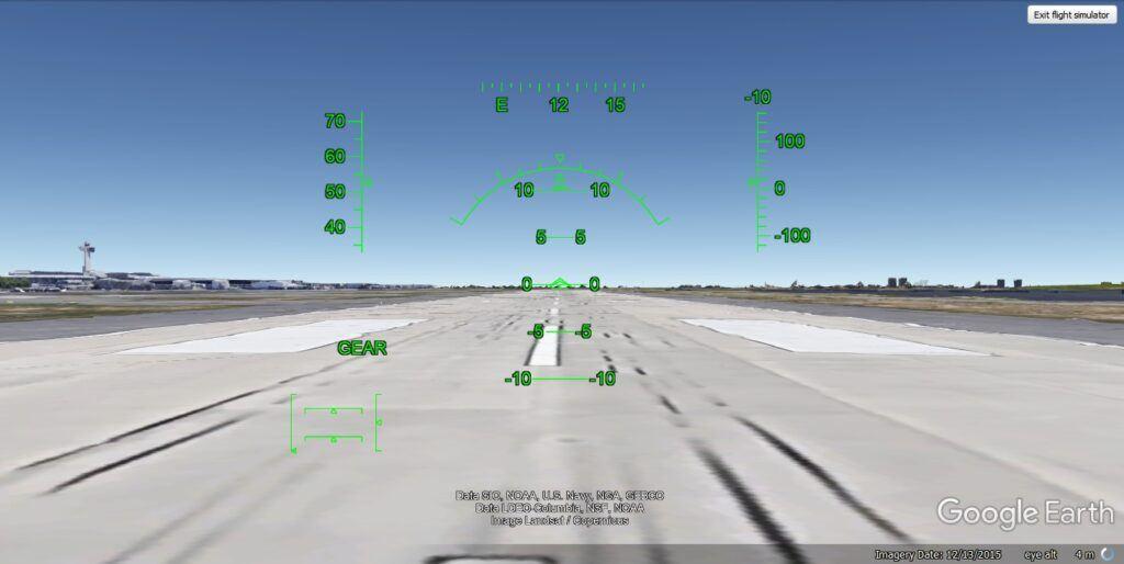 flight simulator on google earth