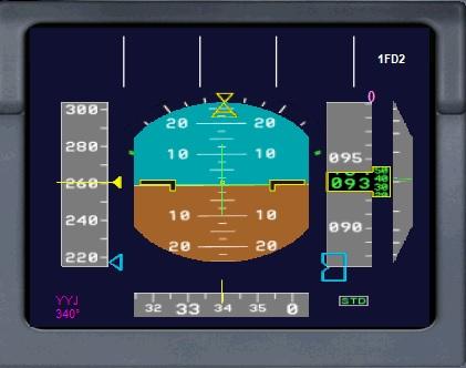 Primary flight display(PFD)